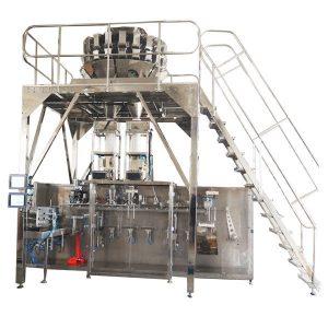 Lárétt Pre-Made Pökkun Machine Með Multihead Vog fyrir Granules